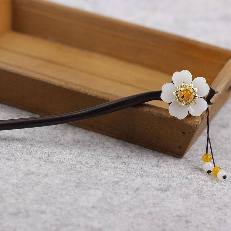 Handmade Wooden Flower Hairpin 2