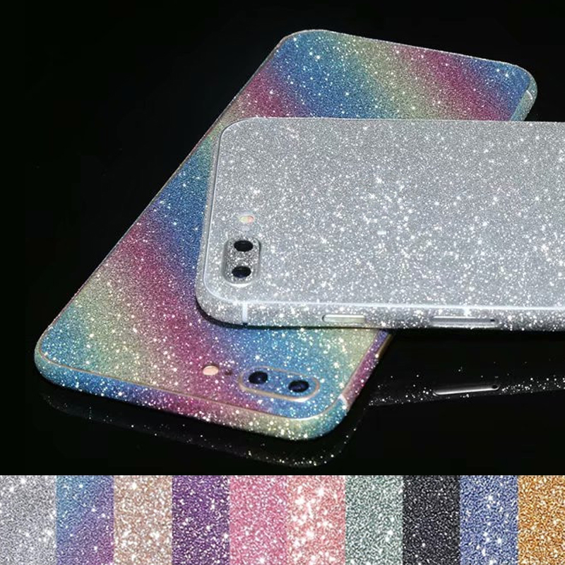 Mobile Phone Stickers Mobile Phone Accessories Sensible Bling Skin Sticker Twinkling Colorful Protective Film Full Body Glitter Bling Phone Stickers For Iphone X Xs Xs Max