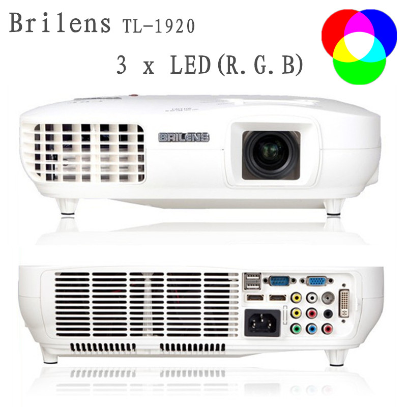 Full HD TL1920 Home Theater Projector1920x1080P Multimedia Player HD Red Green Blue Color <font><b>3</b></font> Led Lights Home Cinema <font><b>23</b></font> Languages