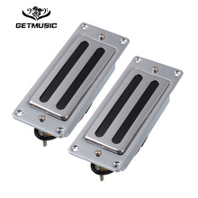 цена Two Line Mini Electric Guitar Humbucker Pickup for LP Guitar Chrome онлайн в 2017 году