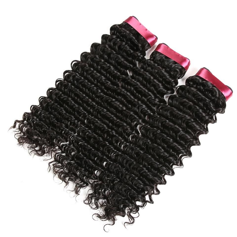 Karizma mélyhullámú brazil haj 100% -os emberi hajszöveti csomag - Emberi haj (fekete) - Fénykép 4