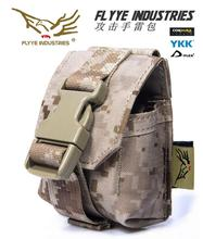 Free shipping In stock FLYYE genuine MOLLE  grenade attack Pouch Military camping hiking modular combat pouch CORDURA FY-PH-G002
