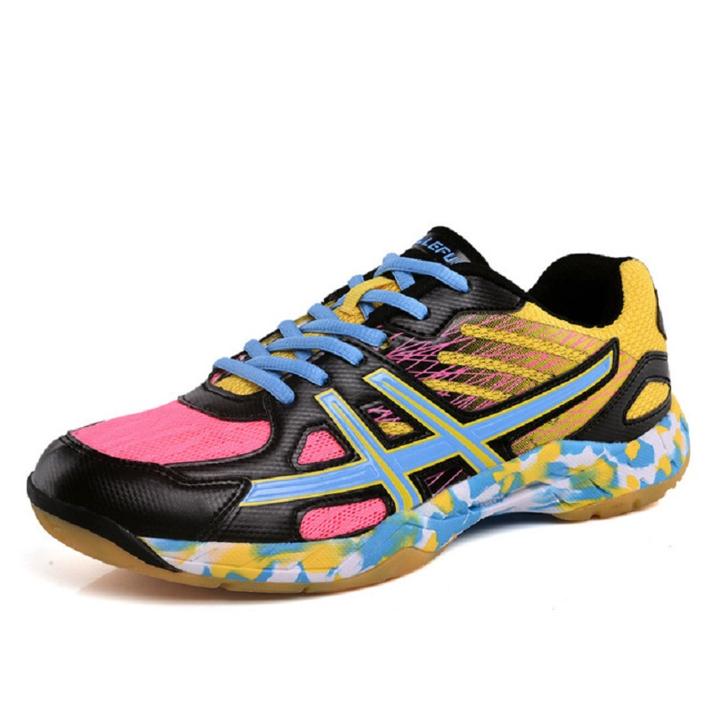 Volleyball Shoes Men Unisex Light Sports Breathable Shoes Cushioning Women Sneakers Wear-resistant size 35-45 A965 professional kumpoo unisex shoes badminton light cushioning comfortable sports sneakers for men and women breathable kh 205 l799