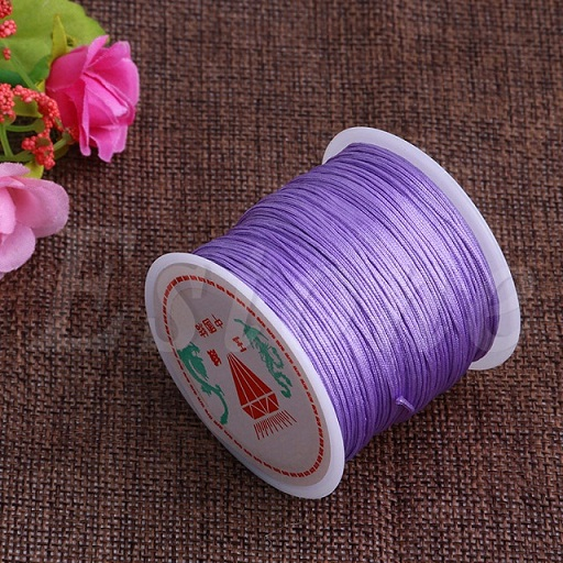 0.8 mm Nylon Cord Thread Chinese Knot MACRAME Rattail Bracelet Tressé Chaîne 45 m