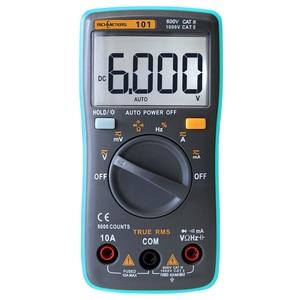 RM101 Auto Range Digital Multimeter 6000 counts Backlight Large Screen Buzzer Protection AC DC Ammeter Voltmeter Ohm Portable(China)