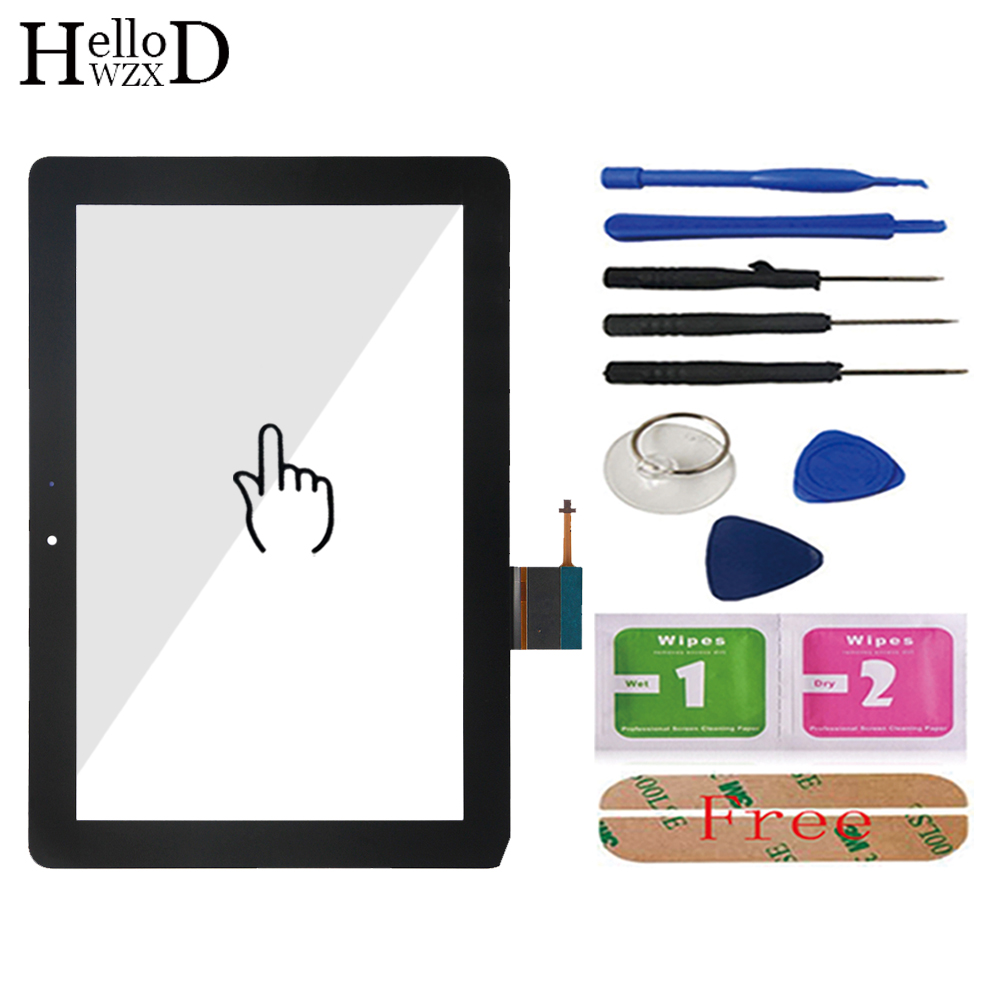 Touch Glass Screen Glass Digitizer Panel Front Glass Lens Sensor For Huawei MediaPad 10 Link S10-201 S10-201U S10-201WA Adhesive