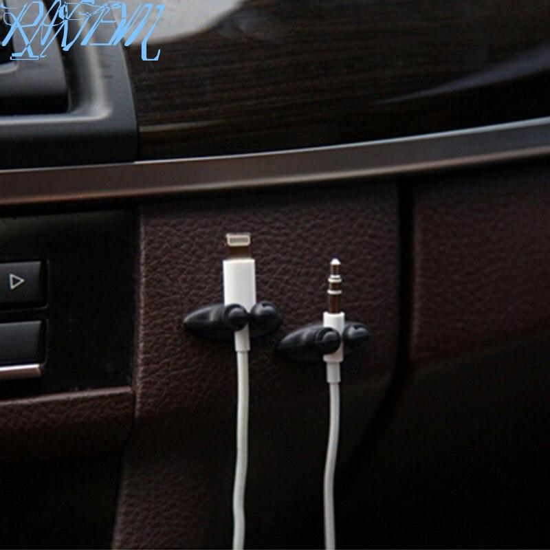 8PCS Car Charger Line Clamp Clamp Headphone/USB Cable Car Clip For Ssangyong Tivoli XLV Kyron Actyon Korando Rexton Rodius(China)