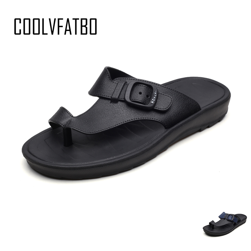 COOLVFATBO Men's Slipper Summer Men Shoes Breathable Walking Beach Sports Slippers Outdoor Men\x27s Shoes Thick Bottom Flat