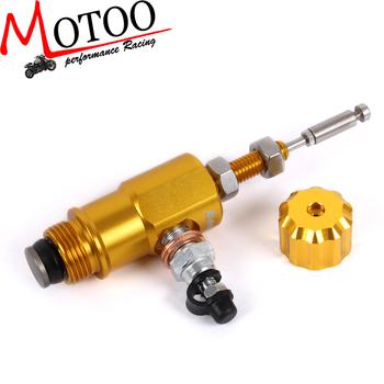 Motoo-wydajność motocykla Adelin hydrauliczne sprzęgło hamulcowe cylinder główny system prętów wydajność wydajna pompa transferowa tanie i dobre opinie ANODIZING Liny i Kabli 0 2kg master cylinder 10cm Iso9001 universal 1inch all years Aluminum Yamaha