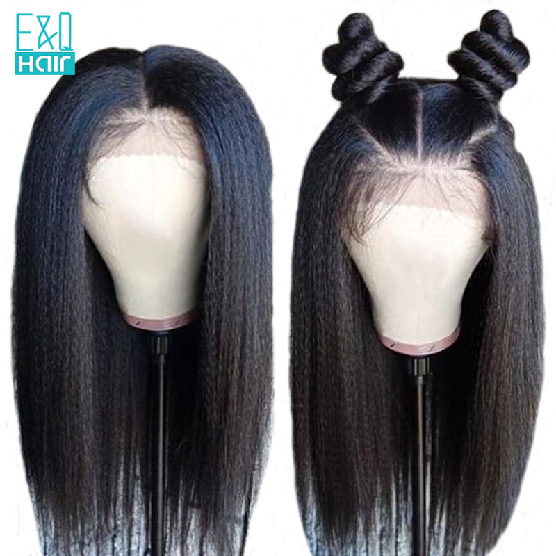 Kinky Straight Full Lace Human Hair Wigs With Baby Hair Pre Plucked Brazilian Remy Hair 8