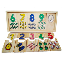 1 Set Baby Montessori Educational Early Learning Wooden Digital Matching Plate Children Math Teaching Abacus Sensory Toys