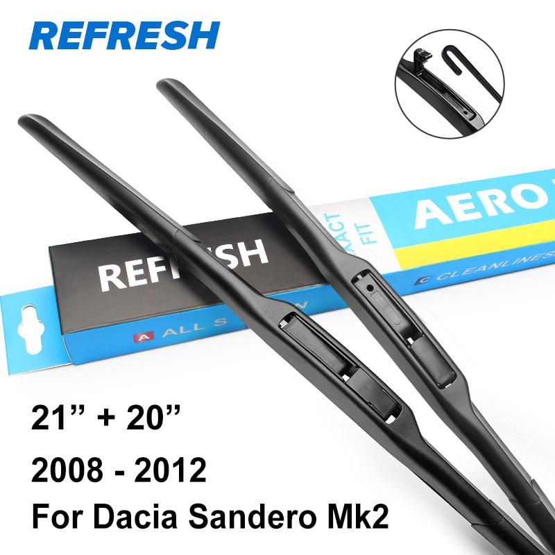 Обновления стеклоочистителей для Renault/Dacia Sandero Mk1 Mk2 точные Fit 2008 2009 2010 2011 2012 2013 - Цвет: 2007 - 2012 ( Mk1 )