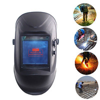 Welding Helmet Welder Mask Big View Eara 4 Arc Sensor Anti UV Shade Adjustment Sparkproof Solar Powered Grinding