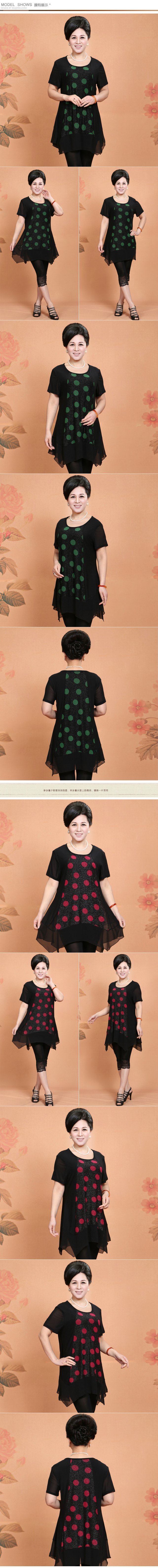 bce5d8c585 US $30.32 |2014 Limited Direct Selling Freeshipping Silk Dot Party Dresses  Elderly Women's Dress Code Fashion Mother Summer Wear Sleeved. -in Dresses  ...