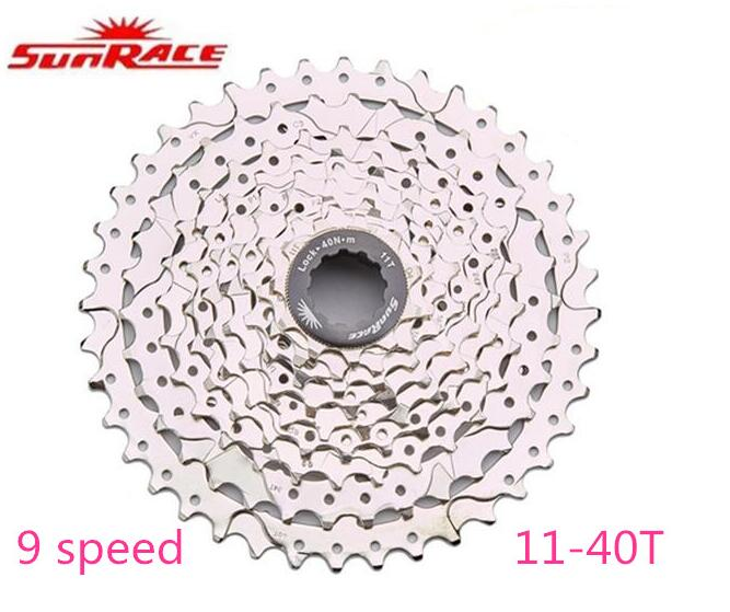 все цены на SunRace 9 Speed 11-40T CSM990 Bicycle Freewheel Mountain Bike Cassette MTB Cycling Flywheel Bike Parts 9-speed 11-40T black онлайн