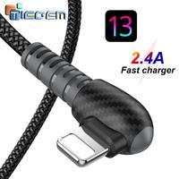 TIEGEM USB Kabel für iPhone Kabel 8 7 6 Plus 6 s 5 5 s SE X iPad 2 Mini 90 Degree Schnelle Ladekabel Handy Ladegerät Kabel