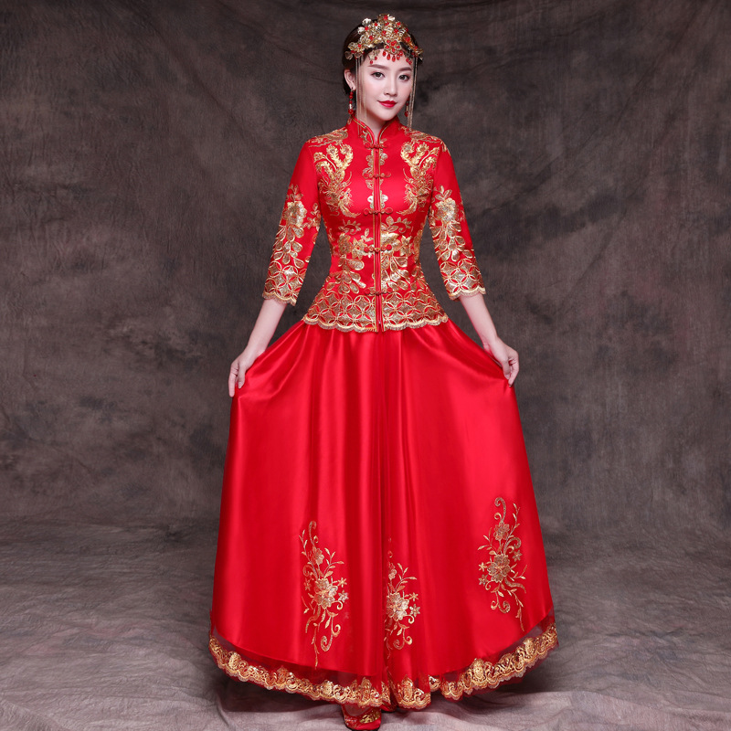 New Bride Wedding Dress Noble Female Marriage Suit Chinese