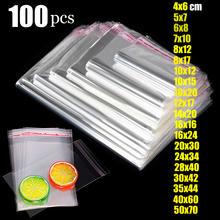 Thick Clear Self adhesive Bag Cellophane Sealing bags small Self-adhesive packing Resealable Plastic poly Bags Transparent