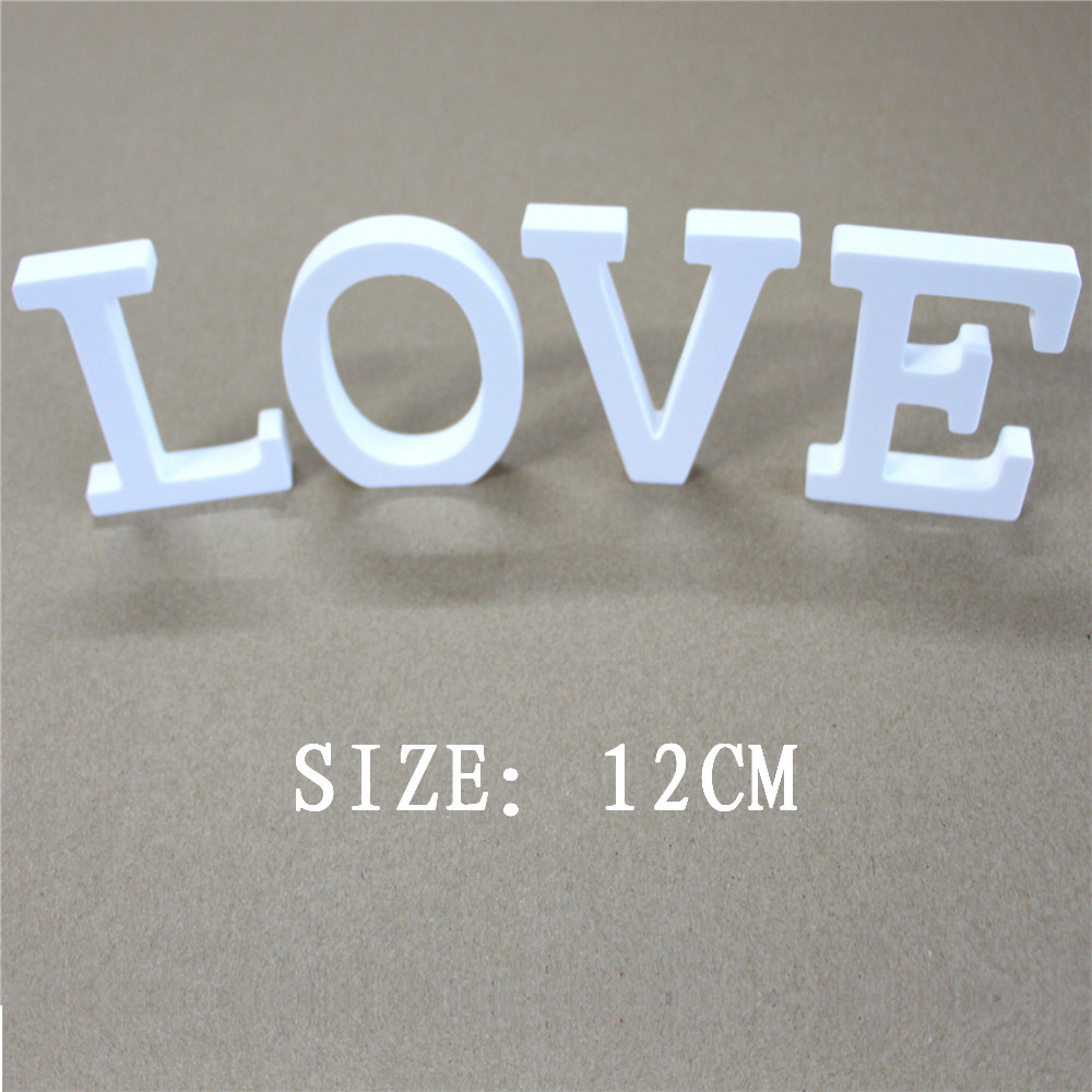 12cm Artificial wood letters Digital Number for Birthday wedding decoration Artificial wooden Butterfly crown heart Diamond ring