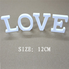 12cm Artificial wood letters Digital Number for Birthday wedding decoration wooden Butterfly crown heart Diamond ring