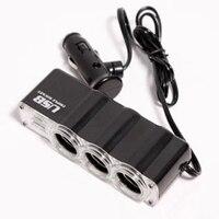 dc 12v 12V-24V לרכב 3 Way רכב מצית סיגריות Socket ספליטר מטען מתאם מתח DC + USB 3 בנמל Plug (2)
