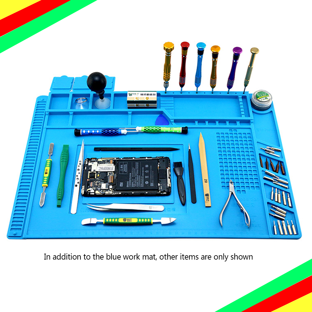 Insulation Pad Heat-Resistant Soldering Station Silicon Soldering Mat Work Pad Desk Platform For BGA Soldering Repair Station