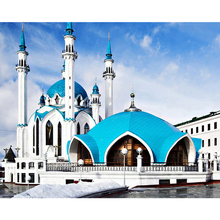 Islamic mosque diamond Embroidery diy painting mosaic diamant 3d cross stitch pictures H506