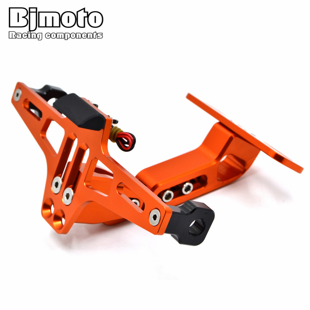 BJMOTO NEW Motorcycle License Number Plate Holder Mount Bracket Hanger Registration Holder For KTM Kawasaki Yamaha Suzuki smaart v 7 new license