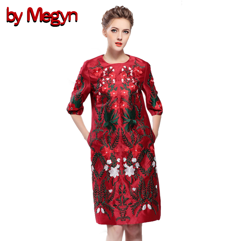 by Megyn 2017 vintage winter dresses women elegant Noble floral embroidered half sleeve mini dress vestidos female party dress bonu sexy bodycon sweater dress simple elegant dress female winter knitted flare sleeve split dresses for women vestidos