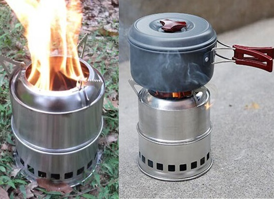New hot foldable outdoor stove wood Portable stainless steel stove firewood camping stove