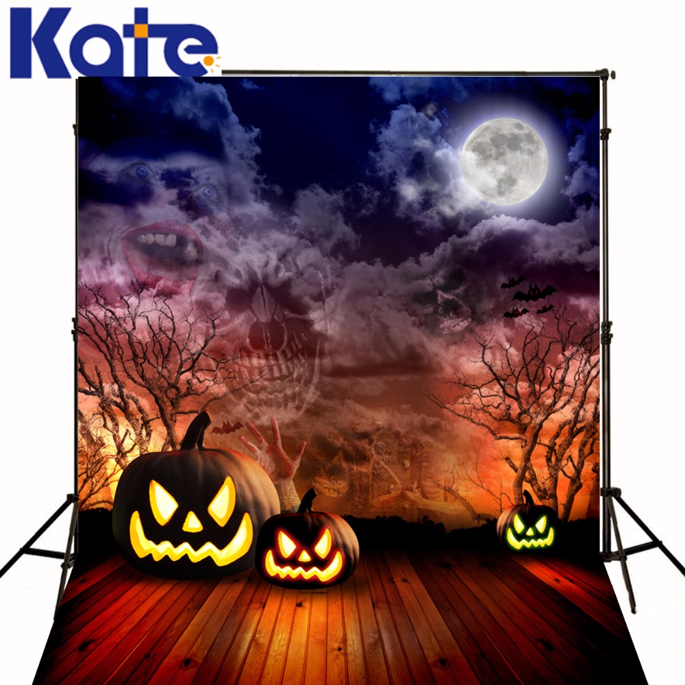 Halloween Backdrop Wood Photography Background Pumpkin Photo Backdrops Ghost For Halloween Photography Studio Backgrounds allenjoy background for photo studio full moon spider black cat pumpkin halloween backdrop newborn original design fantasy props