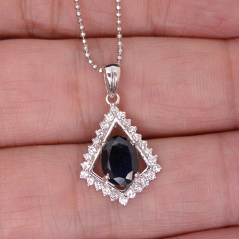Collares Qi Xuan_Dark Blue Stone Simple Elegant Pendant Necklace_Real Necklace_Quality Guaranteed_Manufacturer Directly Sale Collares Qi Xuan_Dark Blue Stone Simple Elegant Pendant Necklace_Real Necklace_Quality Guaranteed_Manufacturer Directly Sale
