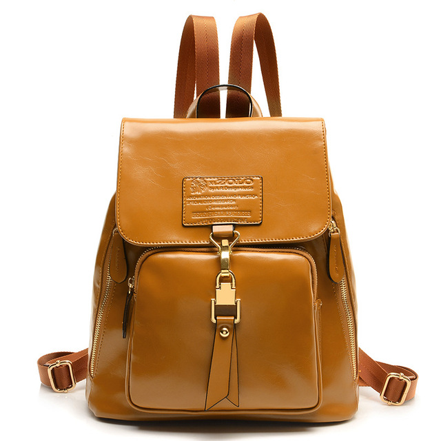 Aliexpress.com : Buy New 2016 Cute Backpack Women Pu Leather Pure ...