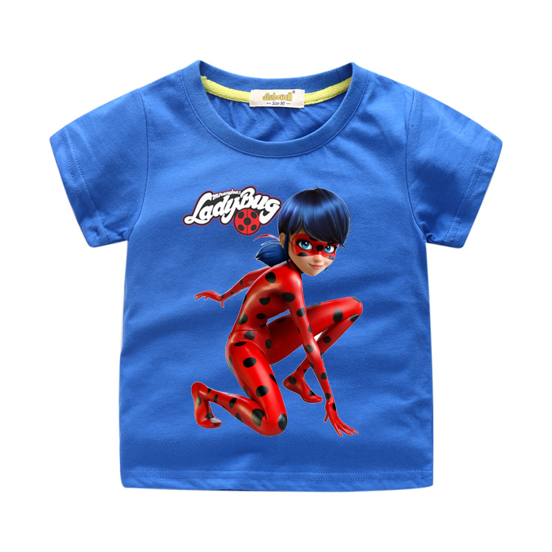 ca3788564324d Kids Summer Clothing Boys Miraculous Ladybug Tees Tops Costumes Girls Short  T-shirt Clothes Baby T Shirt Children Tshirt WJ129