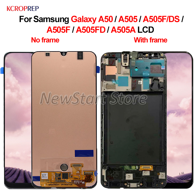 Super Amoled For <font><b>Samsung</b></font> Galaxy <font><b>A50</b></font> A505 <font><b>LCD</b></font> <font><b>Display</b></font> Touch Screen Digitizer Assembly 6.4