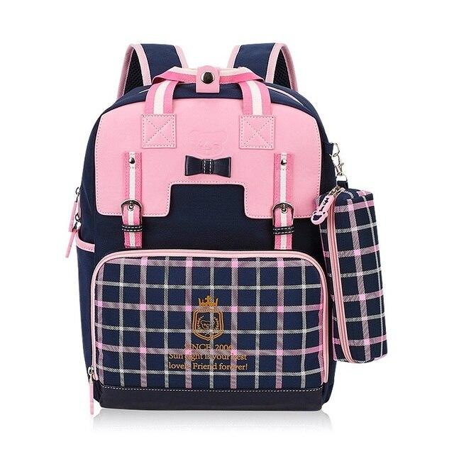 b0d5ec6020 PU de couro de nylon princesa das mulheres bolso bolso mochila de viagem  saco de escola