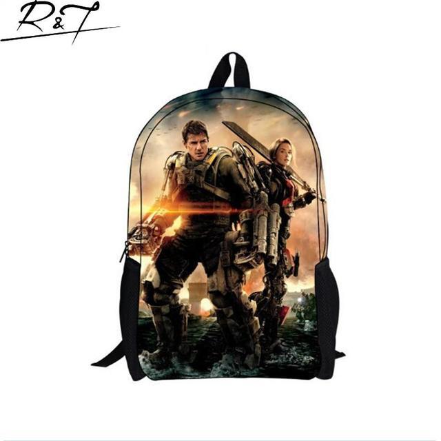 2016 New Design Edge of Tomorrow Kids Backpack for Boys/Girls,Cool Super Man Student School Bags,Children Gifts Mochila