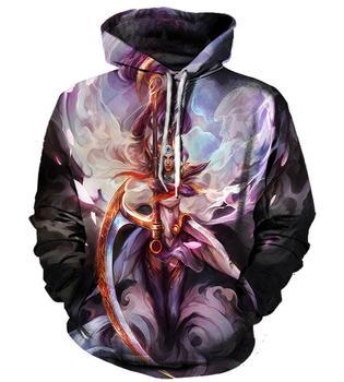 цена 3D Hoodies League of Legends Print Sweatshirts Men Women Anime Hoodie LoL Cosplay Streetwear Hip Hop Tracksuit Male Clothes онлайн в 2017 году