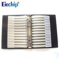 Free Shipping 0201 SMD Capacitor Sample Book 51valuesX50pcs 2550pcs 0 5PF 220NF Capacitor Assortment Kit Pack