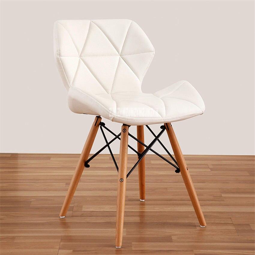 Деревянный стул для отдыха, современный креативный стул для гостиной, простой бытовой обеденный стул для кофе, офисное компьютерное кресло с спинкой - Цвет: E