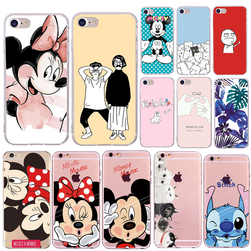 Soft Silicone Phone Case for Capas Apple iPhone 8 7 Plus Mobile