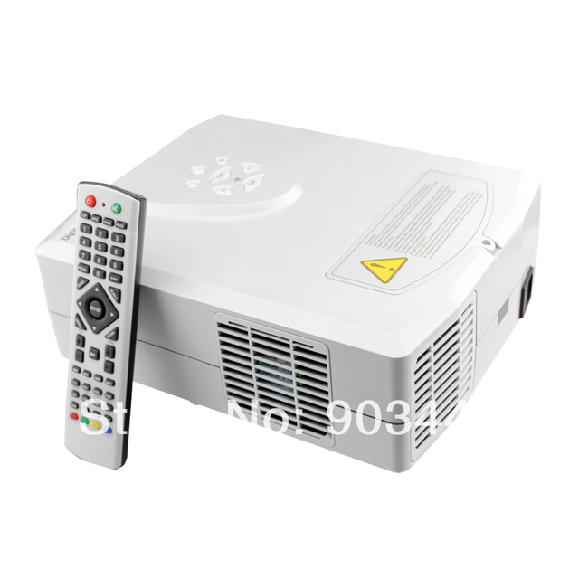 MINI led lcd 1080P 3d projector/projektor/beamer with HDMI USB for DVD,LAPTOP.Free shipping! Free Gift: HDMI Cable