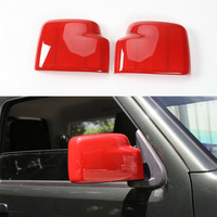YAQUICKA 2Pcs ABS Exterior Car Side Door Rearview Mirror Frame Shell Decoration Styling Cover Trim Moulding For Jimny 2007 2015