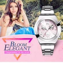 Ladies Watches 2016 Brand Elegant Casual Quartz Watch Waterproof Women Gift Watches Stainless Steel Strap hodinky Montre Femme