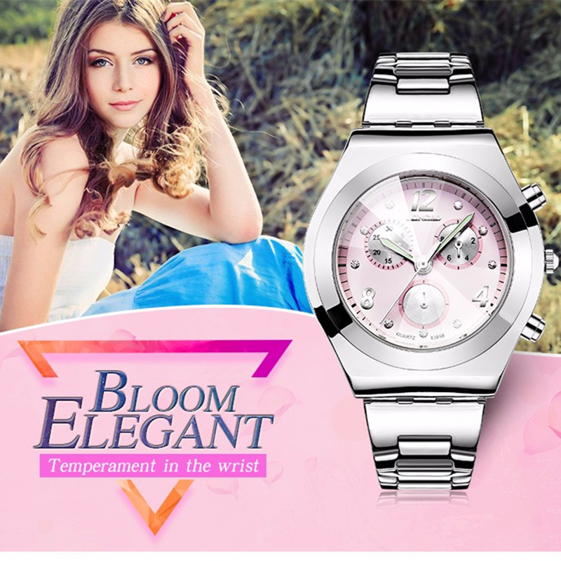 Ladies Watches 2016 Brand Elegant Casual Quartz Watch Waterproof Women Gift Watches Stainless Steel Strap hodinky Montre Femme