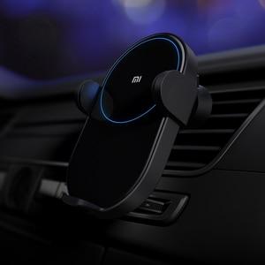 Image 5 - الأصلي Xiao mi سيارة لاسلكية شاحن 20 واط ماكس الكهربائية ذكي مستشعر الأشعة تحت الحمراء نظام الشحن اللاسلكي تشي شحن سريع mi حامل هاتف