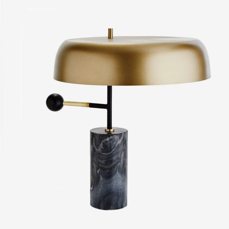 Postmodern Black Marble Stone Table Lamp - Lamps & Lighting