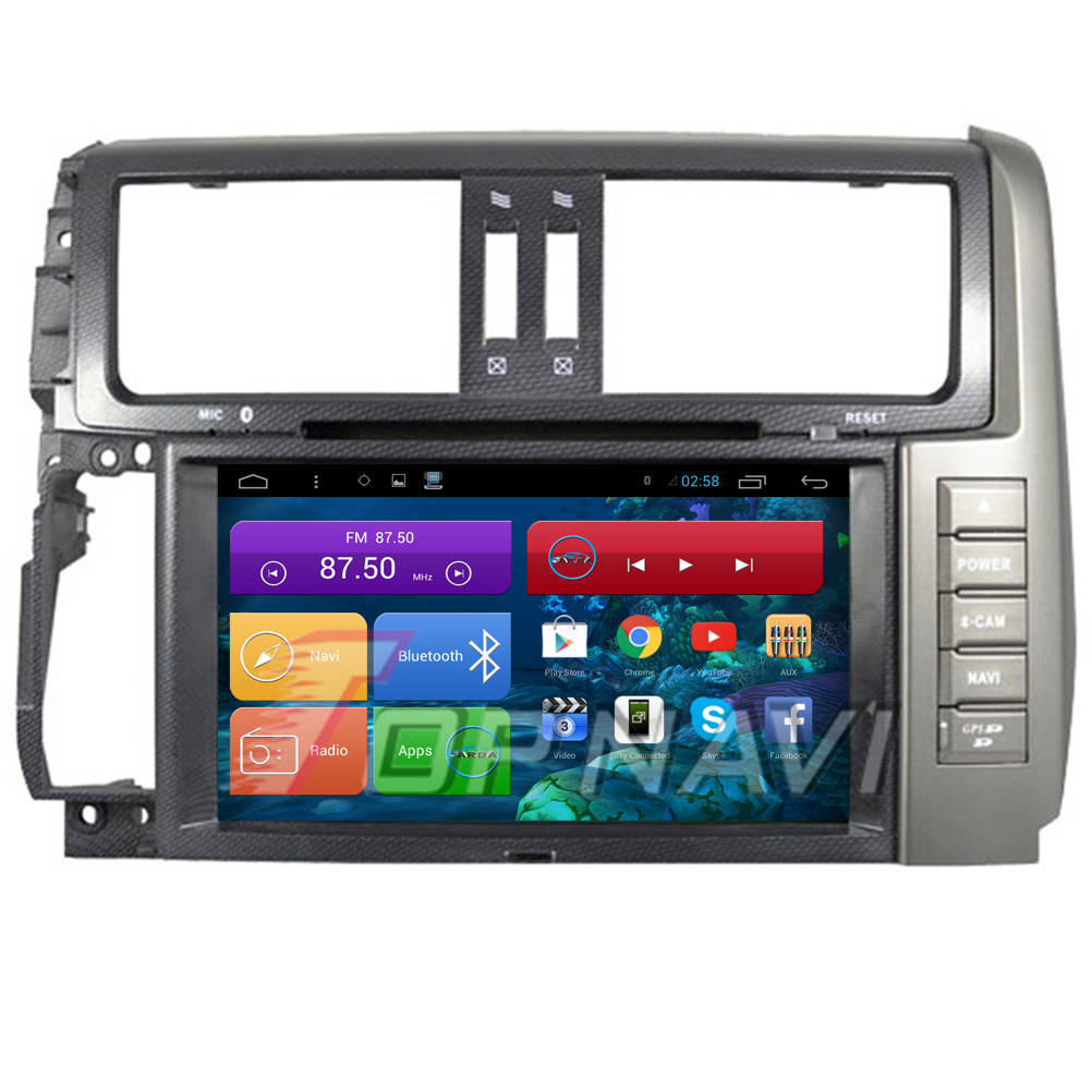 Free Shipping 8'' Quad Core Android 4.4 Car DVD GPS for Toyota Prado 150 2010 2011 2012 2013 With 16GB Flash Mirror Link Stereo