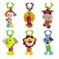1 pc Brinquedos de Pelúcia Do Bebê Berço Cama Carrinho de bebê Pendurado Sino Anel Chocalho Do Bebê Precoce Educacional Brinquedo Macio Boneca