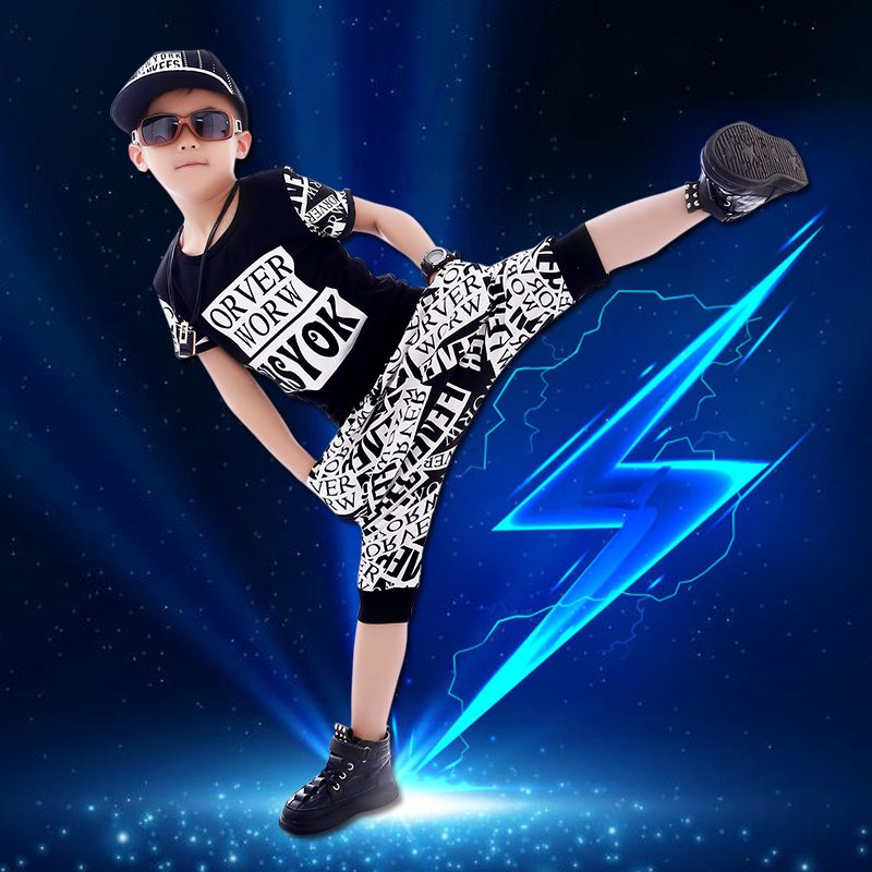 2018 new boy suit summer Korean boy summer children's summer children's clothing tide clothing new summer